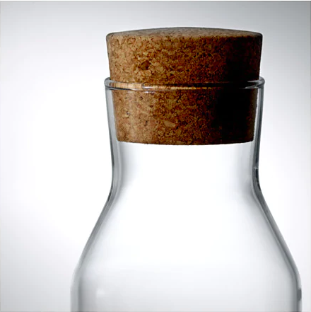 decanter 1 liter with cap (glass)